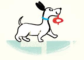 Cut and Colour Georgie Dog